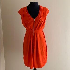 Coral Front Zip Dress
